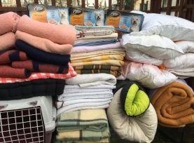 Evelyne a encore fait une super collecte. Que des choses en bon état, lavées, le bonheur ! Merci ❤