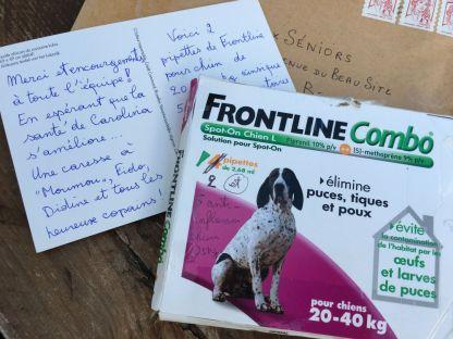 Coucou les amis C&C ! Merci encore votre don de produits vétérinaires ❤