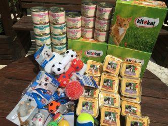 Grâce à Marie-Claude, le mois de juin était presque comme Noël ! Elle nous a envoyé tout plein de colis remplis de bonnes choses pour nos protégés !